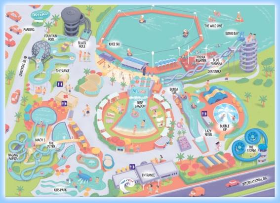 map of wet n wild orlando Wet N Wild Florida Water Parks Com map of wet n wild orlando